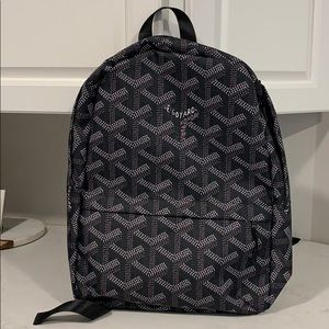 Handbags - FAUX Goyard Screen Print Backpack